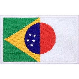Bandeira Bordada Brasil / Japão