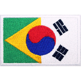 Bandeira Bordada Brasil / Coréia