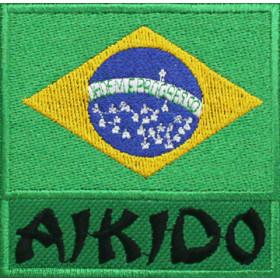 Bandeira Bordada Brasil Aikido