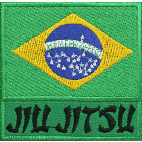 Bandeira Bordada Brasil Jiu Jitsu