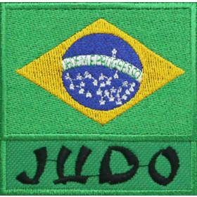 Bandeira Bordada Brasil Judô