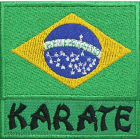 Bandeira Bordada Brasil Karatê
