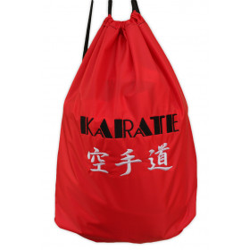 MOCHILA SACO NYLON BORDADO KARATE-DO