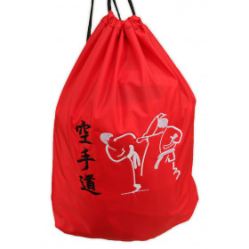 MOCHILA SACO NYLON BORDADO KARATE-DO (ktd2)